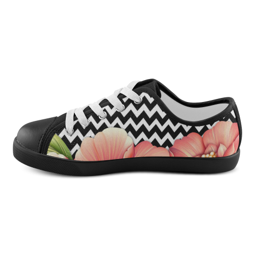 flower power Canvas Kid's Shoes (Model 016)