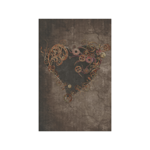 A decorated Steampunk Heart in brown Poster 11*17