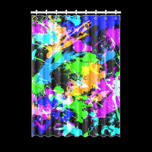 """PAINT SPLASH Window Curtain 52"""" x 72""""(One Piece)"""