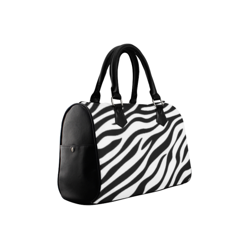 Zebra Print Boston Handbag (Model 1621)