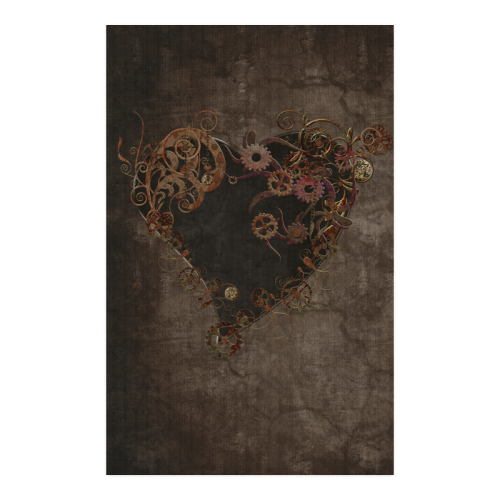 "A decorated Steampunk Heart in brown Poster 23""x36"""