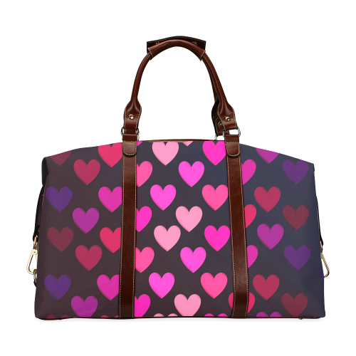 hearts on fire-2 Classic Travel Bag (Model 1643)