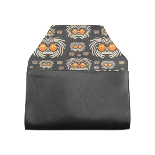 Decorative seeds and orchids Clutch Bag (Model 1630)