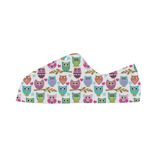 happy owls Canvas Kid's Shoes (Model 016)