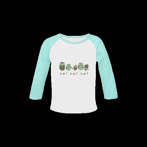 Energetic Owls Baby Organic Long Sleeve Shirt (Model T31)
