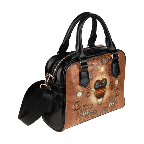 Steampunk,  cute owl Shoulder Handbag (Model 1634)