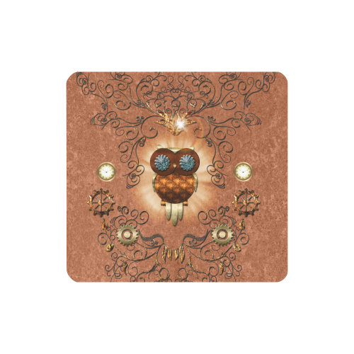 Steampunk, cute owl Women's Clutch Wallet (Model 1637)