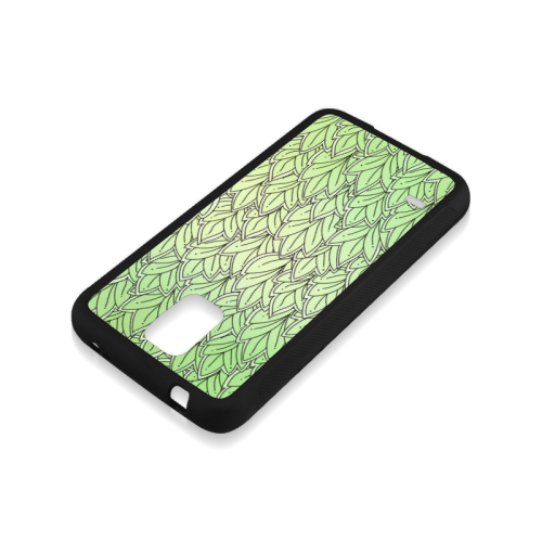 Mandy Green - Leaves Pattern Rubber Case for Samsung Galaxy S5