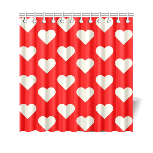 All Hearts Shower Curtain 69x70