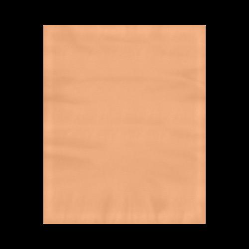 "Pumpkin Color Accent Duvet Cover 86""x70"" ( All-over-print)"