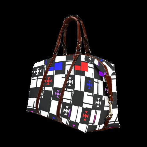 Squares,black,white Classic Travel Bag (Model 1643)