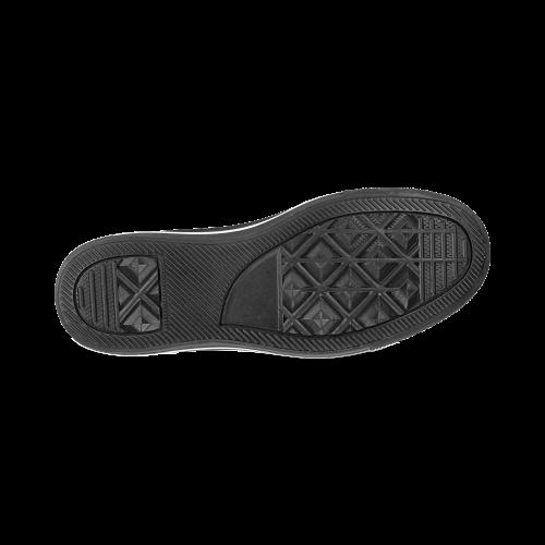 Foliage Patchwork #7 Black - Jera Nour Men's Classic Canvas Shoes (Model 018)