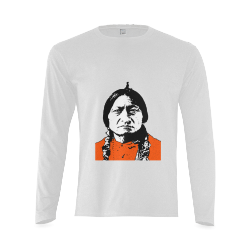 SITTING BULL Sunny Men's T-shirt (long-sleeve) (Model T08)
