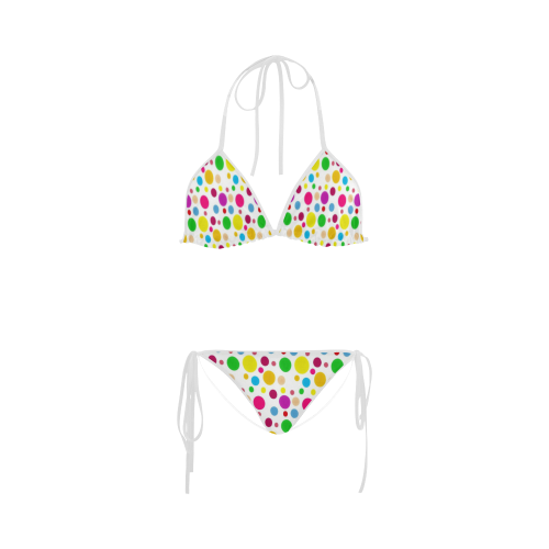 Colored PolkaDots Custom Bikini Swimsuit