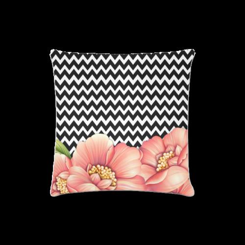 "flower power Custom Zippered Pillow Case 16""x16"" (one side)"