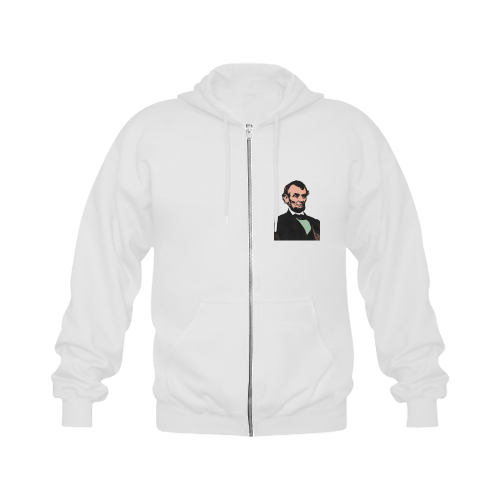 ABE LINCOLN Gildan Full Zip Hooded Sweatshirt (Model H02)