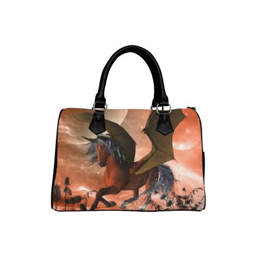 Dark unicorn Boston Handbag (Model 1621)