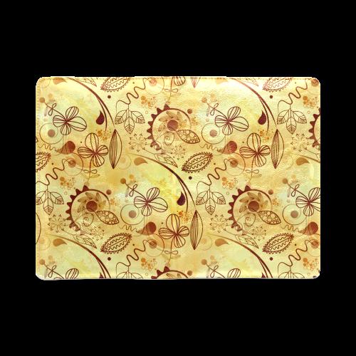 Gold Floral Doodle Custom NoteBook A5