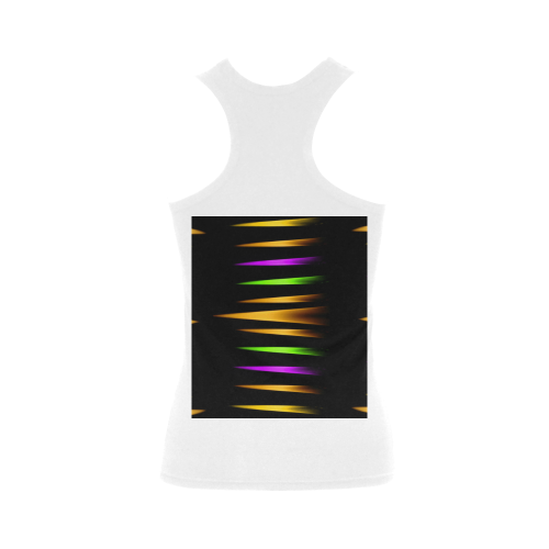 Fireworks and calming down Women's Shoulder-Free Tank Top (Model T35)