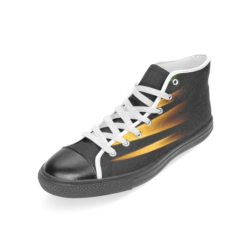 Fireworks and calming down Women's Classic High Top Canvas Shoes (Model 017)