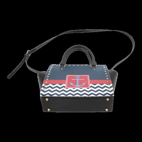 Anchor Rivet Shoulder Handbag (Model 1645)