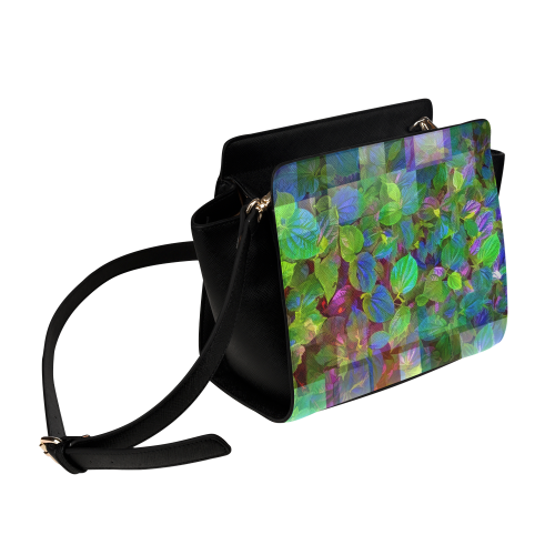 Foliage Patchwork #10 - Jera Nour Satchel Bag (Model 1635)