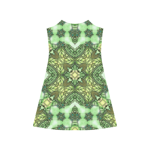 Mandy Green - Forest Garden pattern Alcestis Slip Dress (Model D05)