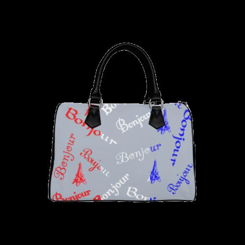 French Flag Bonjour Boston Handbag (Model 1621)