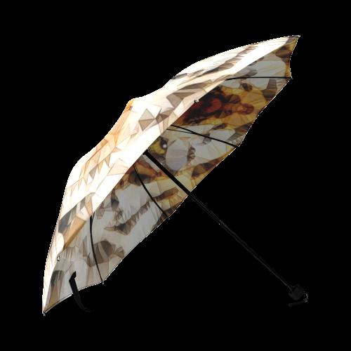 abstract tiger Foldable Umbrella (Model U01)