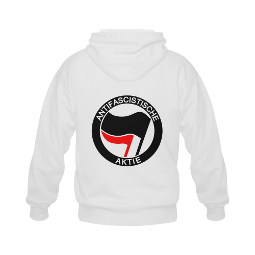 Anti- Fascist Action Gildan Full Zip Hooded Sweatshirt (Model H02)