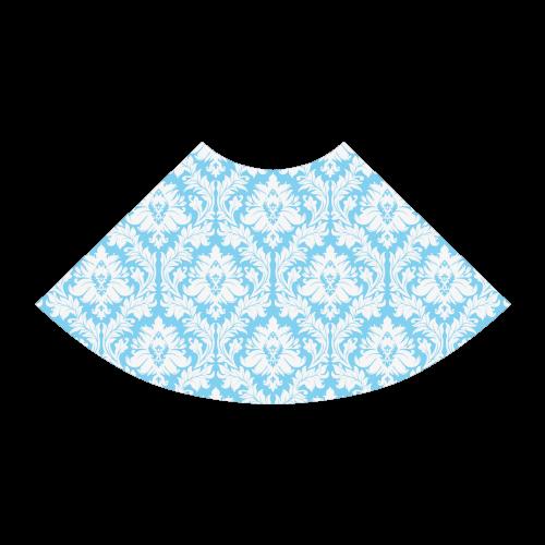 damask pattern bright blue and white Atalanta Sundress (Model D04)
