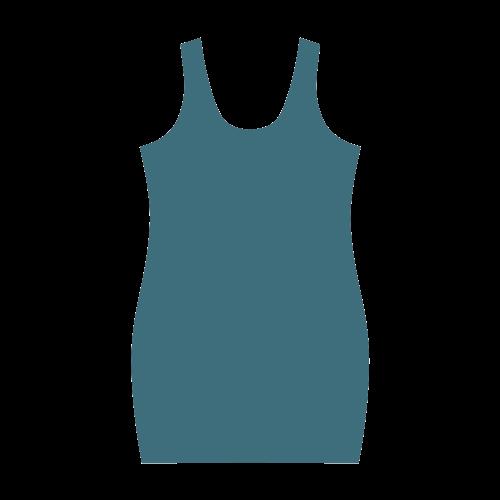 Blue Coral Color Accent Medea Vest Dress (Model D06)