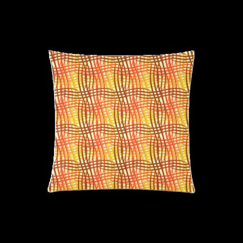 """Golden Waves Custom Zippered Pillow Case 20""""x20""""(Twin Sides)"""