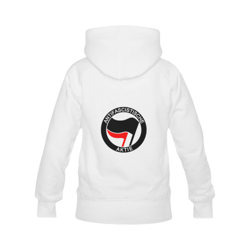 Anti- Fascist Action Women's Classic Hoodies (Model H07)