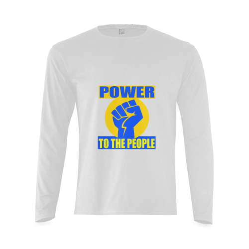 POWER TO THE PEOPLE Sunny Men's T-shirt (long-sleeve) (Model T08)