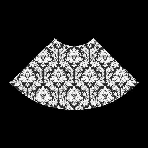 damask pattern black and white Atalanta Sundress (Model D04)