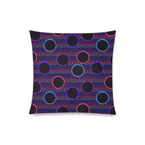 "Funky Black Holes Custom Zippered Pillow Case 20""x20""(Twin Sides)"