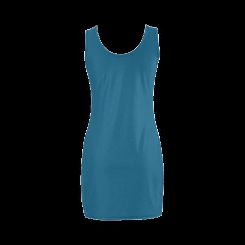 Blue Sapphire Color Accent Medea Vest Dress (Model D06)