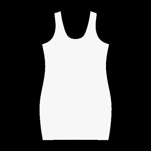 Foxy Wolf ornate animal drawing Medea Vest Dress (Model D06)