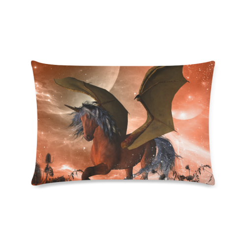 "Dark unicorn Custom Zippered Pillow Case 16""x24""(Twin Sides)"