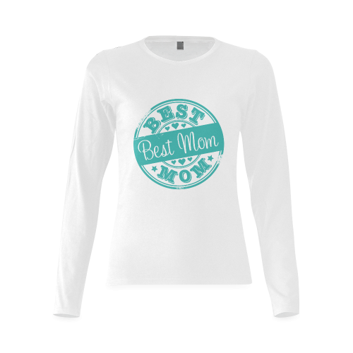best mom teal mother Sunny Women's T-shirt (long-sleeve)