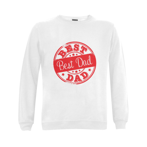best dad red father Gildan Crewneck Sweatshirt(NEW) (Model H01)