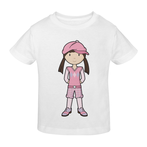 Golf Girl Pink - vintage golfing outfit Sunny Youth T-shirt (Model T04)