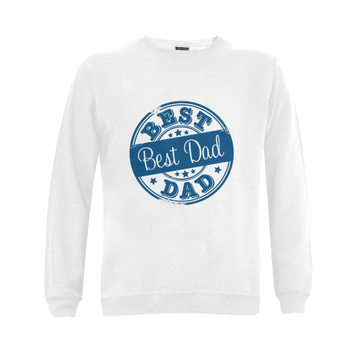 best dad blue father Gildan Crewneck Sweatshirt(NEW) (Model H01)