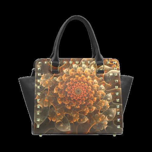 Bloom of Beauty Rivet Shoulder Handbag (Model 1645)