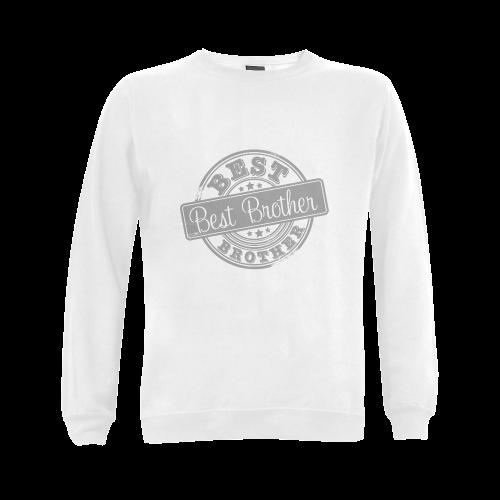 Best Brother grey Gildan Crewneck Sweatshirt(NEW) (Model H01)