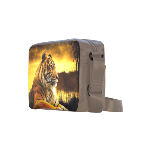 Tiger and Sunset Classic Cross-body Nylon Bags (Model 1632)