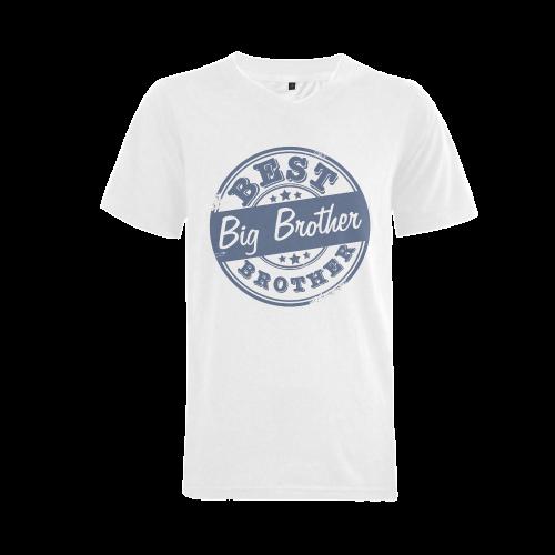 best big brother blue Men's V-Neck T-shirt (USA Size) (Model T10)