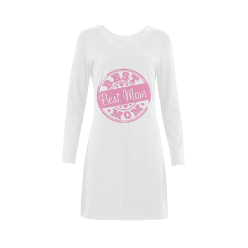 best mom pink mother Demeter Long Sleeve Nightdress (Model D03)