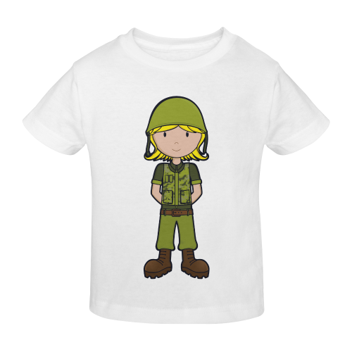 Future Soldier - Army Girl illustration no text Sunny Youth T-shirt (Model T04)